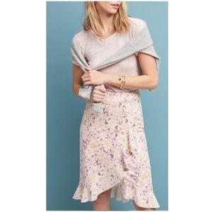 Anthropologie Skye Ruffled Skirt New Size 2 Midi